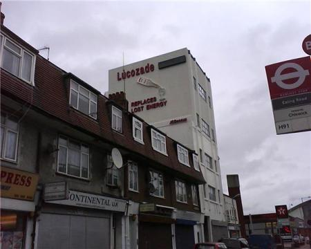 Lucozade sign, Brentford