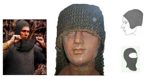 9th century German chainmail, Eastern riveted armour hood, EMF protective hoods